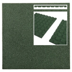 Pehme kummimatt roheline, 500x500x25mm 1