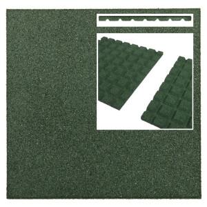 Pehme kummimatt roheline, 500x500x25mm 7
