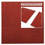 Pehme kummimatt punane, 500x500x25mm 1