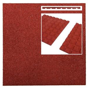 Pehme kummimatt punane, 500x500x25mm 10