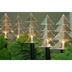 Valgusdekoratsioon 'Kuused'', 6 LED lampi soevalge, 25cm 3