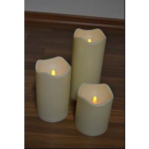 Küünlad patar.-ga h=20cm, plastik, ø 7,5 cm 1 LED lambiga 13