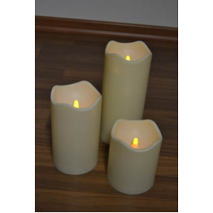 Küünlad patar.-ga h=15cm, plastik, ø 7,5 cm 1 LED lambiga 12