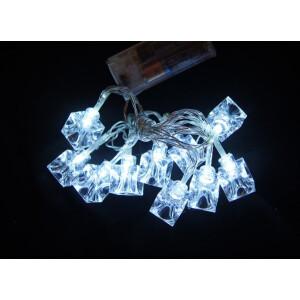 Valguskett 'Valged kuubikud'' 10 LED 4