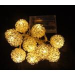Valguskett 'Põimitud pall'' 10 LED lampi 1
