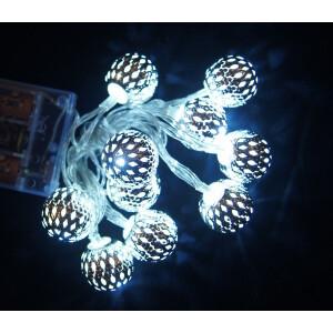 Valguskett 'Metallist pall'' 10 LED lampi 8