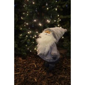 Jõuluvana 84cm valge/hall, seisev 4
