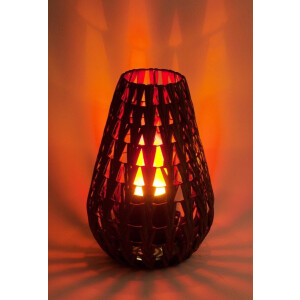 Dekoratsioonlamp Natural Chevron Lamp, rotang 6