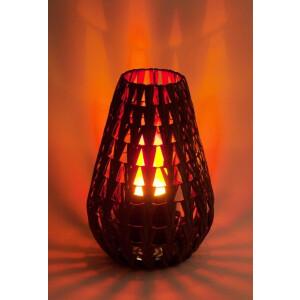 Dekoratsioonlamp Natural Chevron Lamp nahk 9