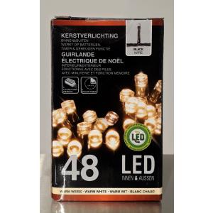Valguskett 48 LED taimeriga 12