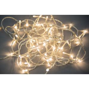 Valguskett 300 LED lampi soevalge, sisse/välja 7