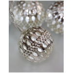 Valguskett 'Metallist pall'' 10 LED lampi 3