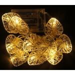Valguskett 'Põimitud süda'' 10 LED lampi 2