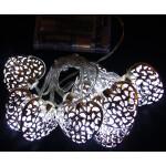 Valguskett 'Metallist süda'' 10 LED lampi 3