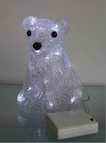 Akrüülkaunistus 'Jääkaru'', 30 LED lampi 6