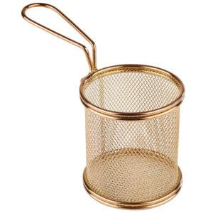 APS serveerimiskorv ümmargune, diam.9cm, kuldne 13