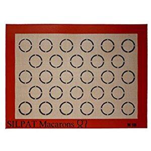 Silpat makroonide küpsetusmatt 37,5x27,5cm, 28 makrooni 19